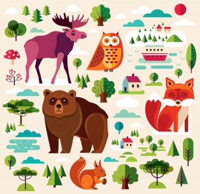 Papiers peints Animaux de la forêt