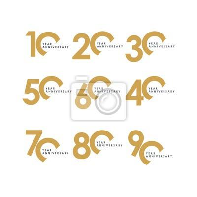 Papiers peints Année anniversaire Set Vector Template Design Illustration