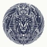 Tatouage Anubis Et Conception De T Shirt Anubis Dieu De La Papier