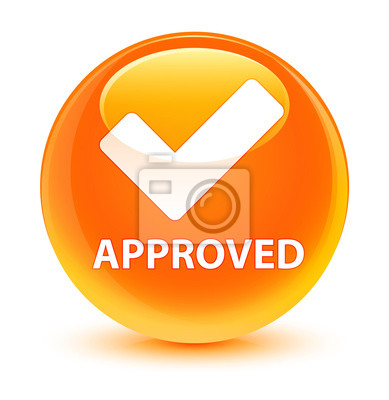 Approuve Icone De Validation Bouton Rond Orange Vif Papier Peint