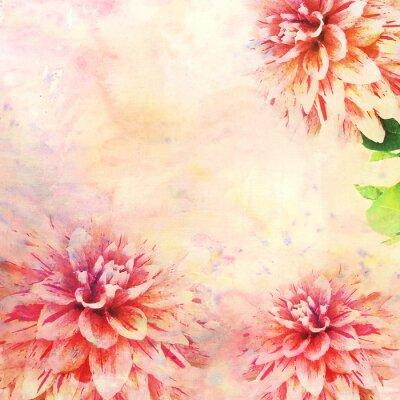 Papiers peints Aquarelle, Illustration, floral, thème