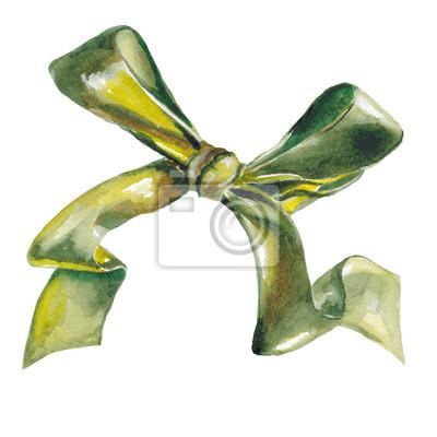 Aquarelle Vert Isole Arcs Decoratifs De Ruban Papier Peint
