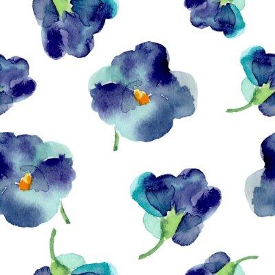 Papiers peints Aquarelle, violet, fleurs, seamless, modèle
