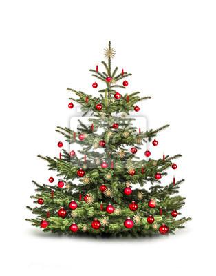 Arbre de Noël avec des boules rouges