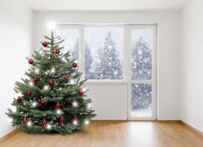 arbre de Noël dans la salle