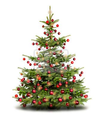 arbre de Noël décoré traditionnel