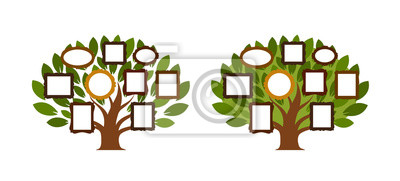 Arbre Genealogique Icone De Genealogie Ou Logo Illustration Papier