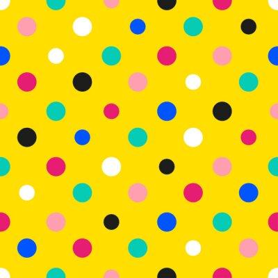 Papiers peints Arc-en-ciel, coloré, pois, jaune, fond, vecteur ...