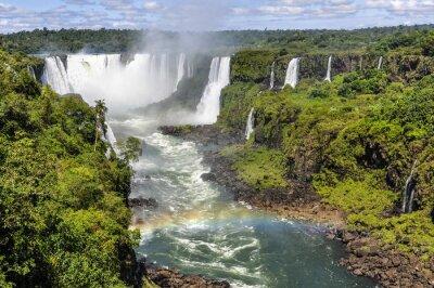 Papiers peints Arc-en-ciel, diable, gorge, Iguazu, chutes, brésil