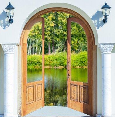 Papiers peints Arche porte ouverte étang