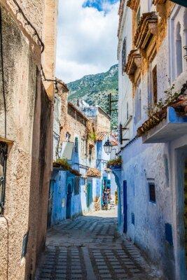 Papiers peints Architectural, détail, Chefchaouen, maroc, afrique