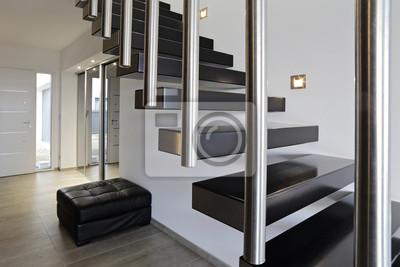 Papiers peints: Architecture escalier moderne intérieur maison design