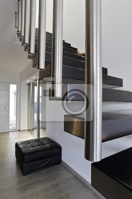 Architecture escalier moderne intérieur maison design papier peint ...