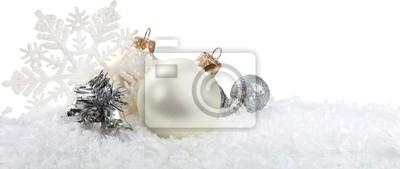 Argent babioles de Noël