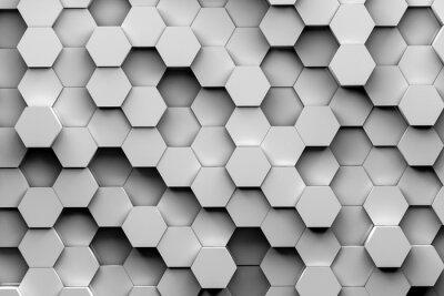 Papiers peints Arrière-plan hexagonal 3d illustration