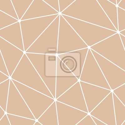 Arrière-plan transparent polygonale. motif beige et blanc de papier ...