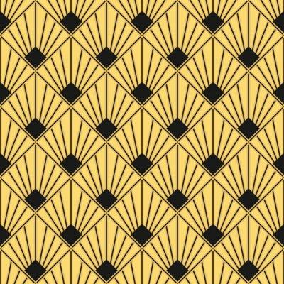 Art Deco Motif Papier Peint Vintage Sans Soudure Papier Peint