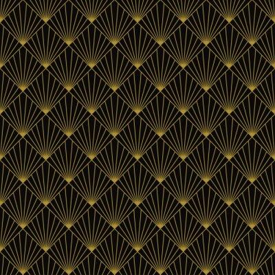 Art Deco Soleil Rayons Papier Peint Papiers Peints Rhomb Forme