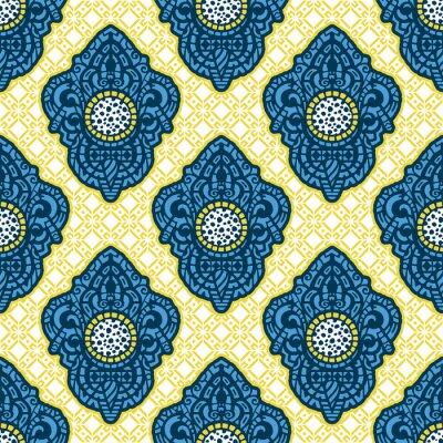 Papiers peints Art ethnique ornemental, modelé indien, turc, arabe, paisley. Illustration dessinée à la main Tatouage, astrologie, alchimie, boho et symbole magique. Design original dans le style doodle.