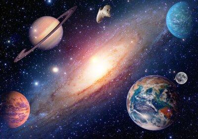 Papiers peints Astrologie astronomie terre lune espace extra-atmosphérique mars saturn système solaire planète galaxie. Éléments de cette image fournis par la NASA.