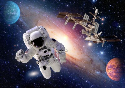 Papiers peints Astronaute, astronaute, costume, gens, planète, espace, navette, station, vaisseau spatial. Éléments de cette image fournis par la NASA.