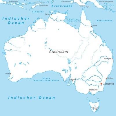 Papiers peints Australien à Weiß (beschriftet) - Voiture