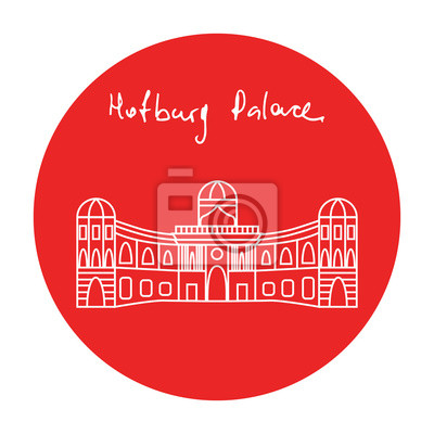 Autriche Hofburg résidence palais vecteur icône