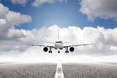 Papiers peints avion au décollage à l'aéroport