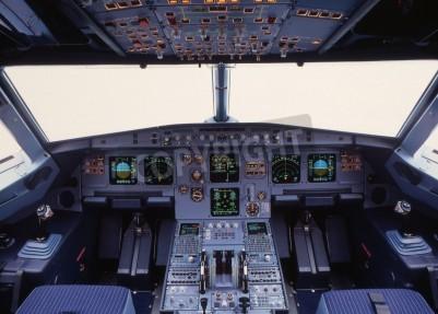 Papiers peints avion cockpit d'un avion de ligne moderne