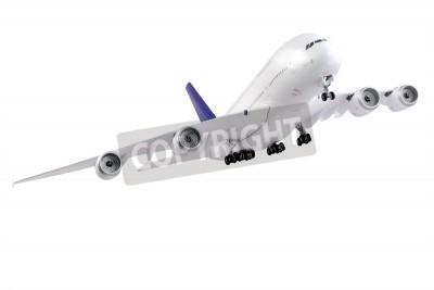Papiers peints Avion moderne isolé sur fond blanc.
