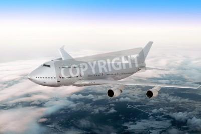Papiers peints Avion moderne sur les nuages.