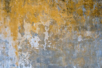 Papiers peints Background of old yellow painted wall texture