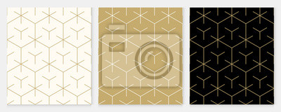 Papiers peints Background pattern seamless geometric line abstract gold luxury color vector. Christmas background.