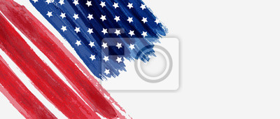 Papiers peints Background with USA painted flag