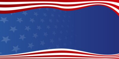 Papiers peints Background with USA painted flag. America Background