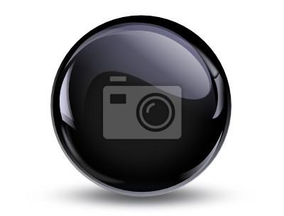 Papiers peints ball reflection, 3d noir