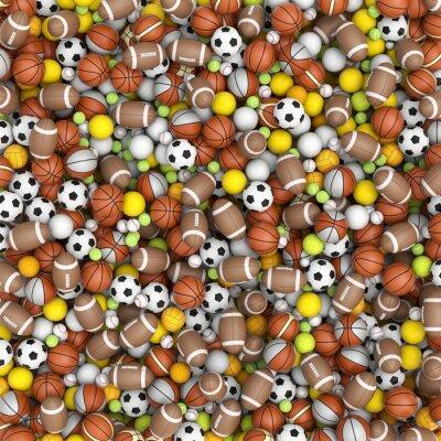 Papiers peints balles de sport sur le sol