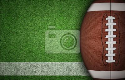 Papiers peints Ballon de football américain sur Herbe