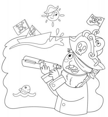 Papiers peints Bambino vestito parce pirata
