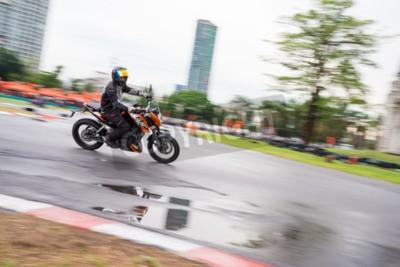 BANGKOK - MAY 18,2014 : Unidentified test driver KTM Duke 200 in Duke me KTM Track and Test 2014 on May 18 at Motor Sport Land, Bangkok, Thailand