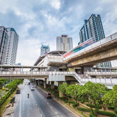 Papiers peints Bangkok, métro, station, crépuscule