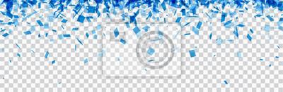 Papiers peints Bannière à carreaux avec des confettis bleus.