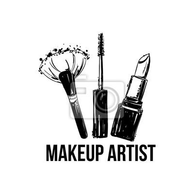 Papiers Peints Bannire De Logo Artiste Maquillage Concept Carte Visite Et