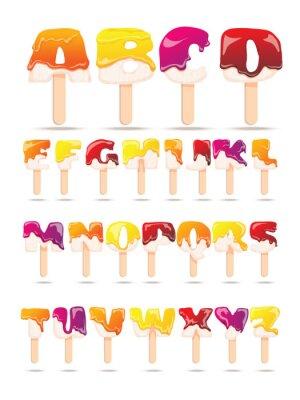 Papiers peints Bannière plate de l'Alphabet à la crème glacée