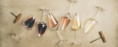 Papiers peints Bar à vin, établissement vinicole, concept de dégustation de vin