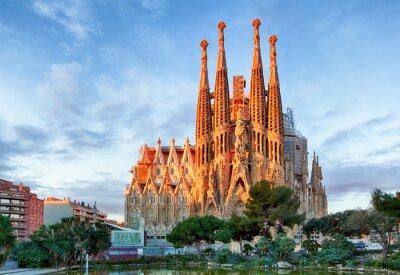 Papiers peints BARCELONE, ESPAGNE - 10 FÉVRIER: La Sagrada Familia - l'impression