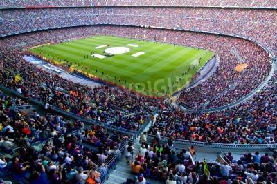 Papiers peints Barcelone, Espagne - 13 mai 2011: non identifiés supporters du FC Barcelone célébrer la victoire de championnat de ligue espagnole au stade de Camp Nou.