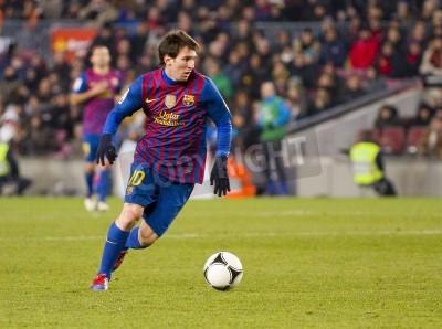 Papiers peints BARCELONE - Lionel Messi en action lors du match Coupe d'Espagne entre le FC Barcelone et le Valencia CF, score final 2-0, au stade de Camp Nou, Barcelone, Espagne