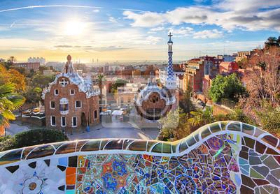 Papiers peints Barcelone - Parc Guell, Espagne