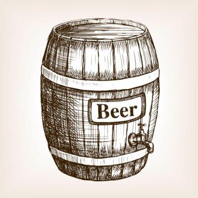 Papiers peints Baril, bière, croquis, Style, vecteur